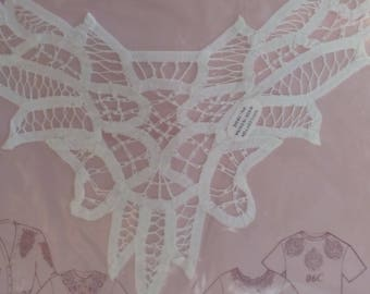 Applique #002 Battenburg lace and cut out inset with Free Shipping