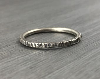 Stacking Ring, Stackable Sterling Silver Ring, Rustic Stacking Silver Ring, Hammered Silver Ring, Minimal Silver Ring, Minimalist Jewelry