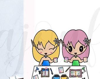 Chibi Elf - Planner Friends/Meet-up Planner Stickers
