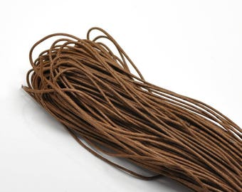 5 m wire Brown waxed cotton cord 1.5 mm