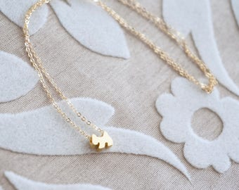 Tiny Dog Necklace - Gold Necklace, Tiny Jewelry, Gold Puppy Necklace, Petite Charm Necklace, Layering Necklace, Dainty Necklace