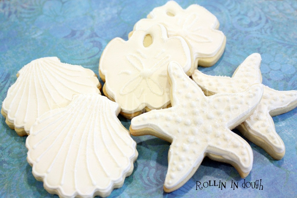 Beach Cookies Wedding Favors