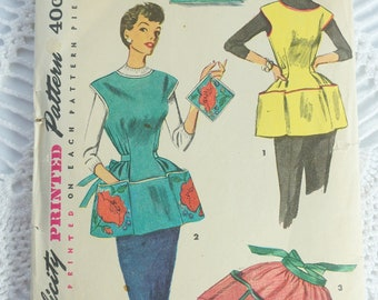Vintage Simplicity Sewing Pattern 4492 - Ladies' Apron with Pockers - Size MEDIUM Bust 34-36