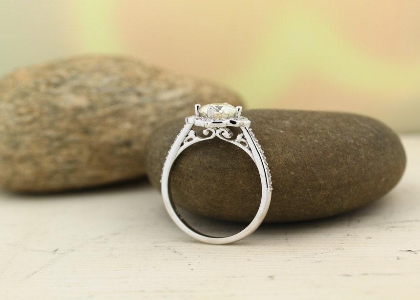65mm Forever One Moissanite Colorless Engagement Ring Diamond