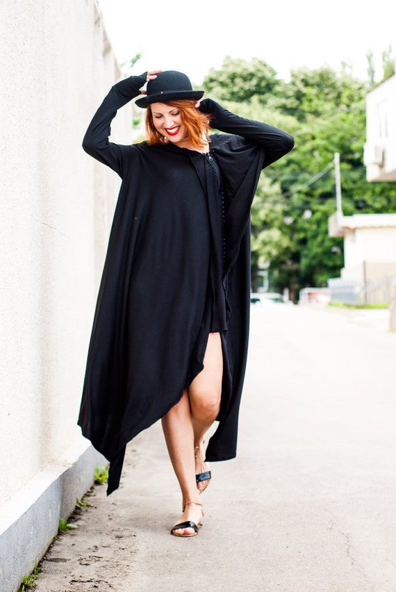 Black Loose Maxi Dress Plus Size Dress Party Dress