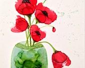 Alcohol ink art. Poppy XX...