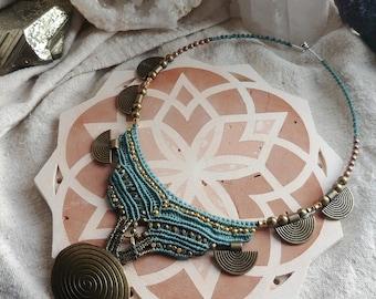pachamama tribe - macrame choker necklace
