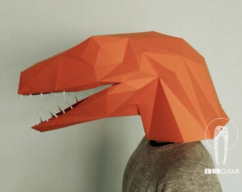 Dinosaur Mask Make A T Rex With Just Paper And Glue Diy Ume Party