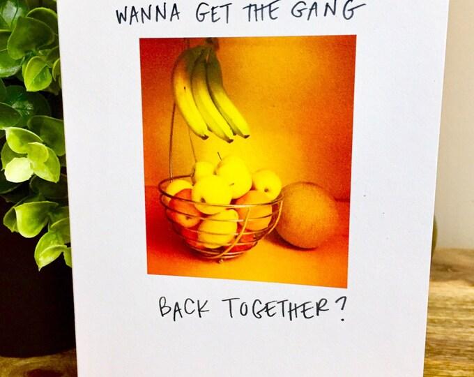 Let's get Together Card, Missing You Card,  I Really Miss You, Wanna get together, miss you card unique, funny miss you card,
