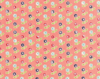 Vintage Picnic Rosie Coral by Bonnie and Camille for Moda, 1/2 yard, 55121 13
