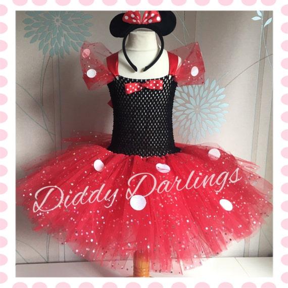 Prickelnde Minnie Mouse Tutu Kleid. Inspiriert handgefertigte