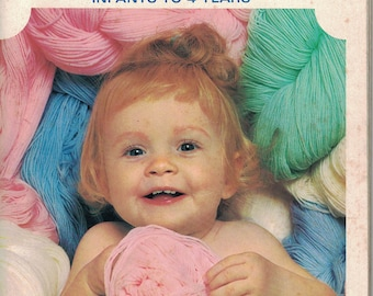 Bucilla Loveable hand Knits for ages 0-4-  Vintage  Knitting Book 1953 30 Patterns
