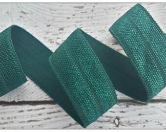 5/8 HUNTER GREEN Fold Over Elastic 5 or 10 YARDS