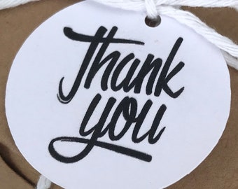 Thank You Tags - Party Favour Tag - Wedding Favour Tag - Round Tag (20)