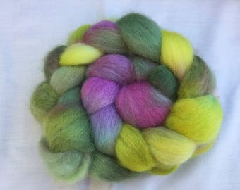 Hand Dyed Jamieson and Smith Shetland  wool tops