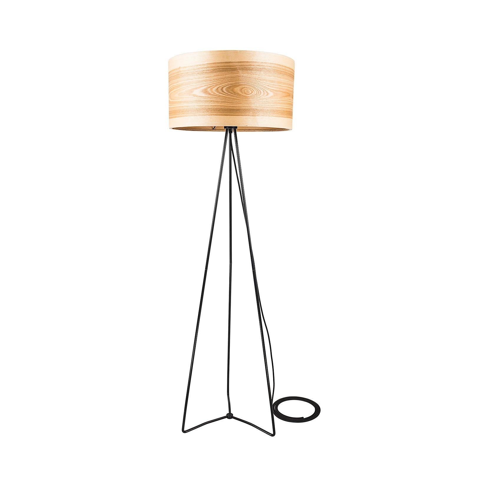 Tripod Floor Lamps, Wooden Floor Lamps, Scandinavian Lighting, Nordic  Decor, Natural Wood, Unique Ash Wooden Shade