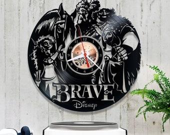 Brave Vinyl Clock| Disney Wall Clock| Vinyl Record Clock *V253 Horloge Disney| Kids Clock| Record Wall Clock| Wall Vinyl Clock