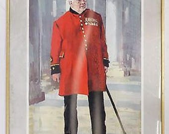 """ROBERT KING """"Bumble"""" Chelsea Pensioner - Signed Limited Edition Art Print"""