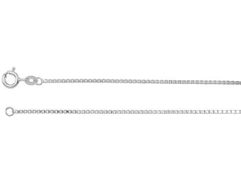 """18"""" Box Chain Necklace, Sterling Silver Necklace"""