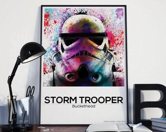 Star Wars inspired print / Storm Trooper / Jedi / Gift / Alternative Film Poster / Fan Art / 250gsm Print