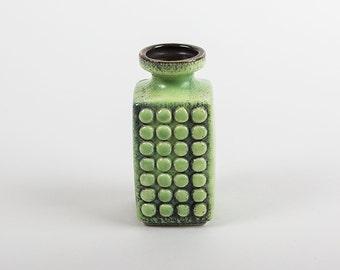Vintage East German Green Vase by VEB Haldensleben Form 3058 C Op Art of the '70ies