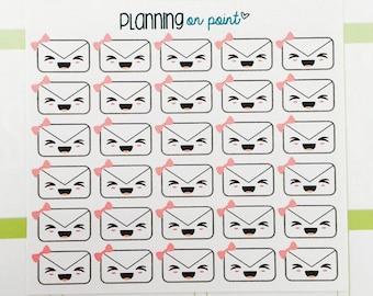 Kawaii Happy Mail Envelope Planner Stickers!