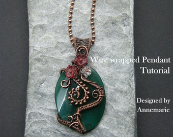 Wire Wrap Tutorial ~ Wire wrapped necklace tutorial ~ Wire Wrapping ~ Jewelry tutorial ~  Wire wrapped jewelry tutorial ~ Wire weaving ~