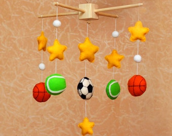 Baby Mobile/ Sports mobile/ Felt Baby Mobile.