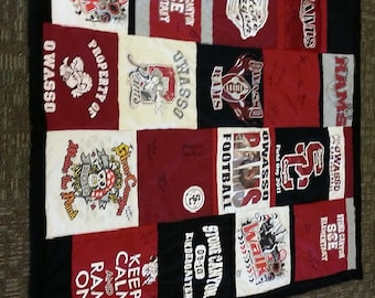 Custom T-shirt memory quilt deposit or pillowcase purchase