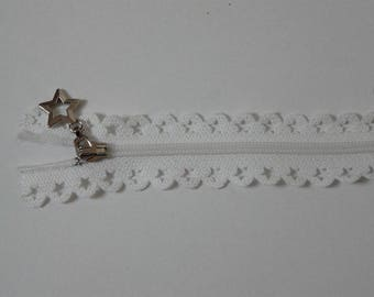 Edward closure lace star 25 cm vanilla
