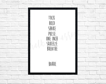 Barre wall art-digital print-DIGITAL FILE-PRINTABLE-typography-pure barre-xtend barre