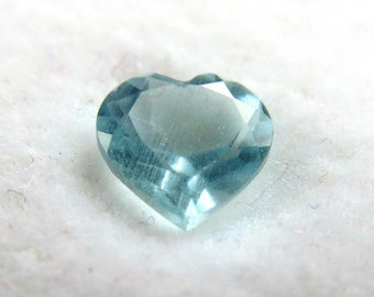Sky Blue Heart Shaped Topaz Loose Gemstone 5mm Size, .430 Carats