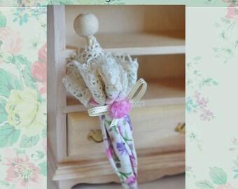 Miniature Parasol, dollhouse parasol, doll accessory umbrella.