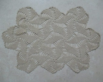 FREE SHIPPING Vintage Crochet Doily Doilie