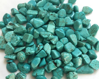 Tumbled Turquoise Crystal Stones Mosaic / Glass Mosaic Tiles / Hand Craft Art Candle Lamp DIY Tool 100g #60