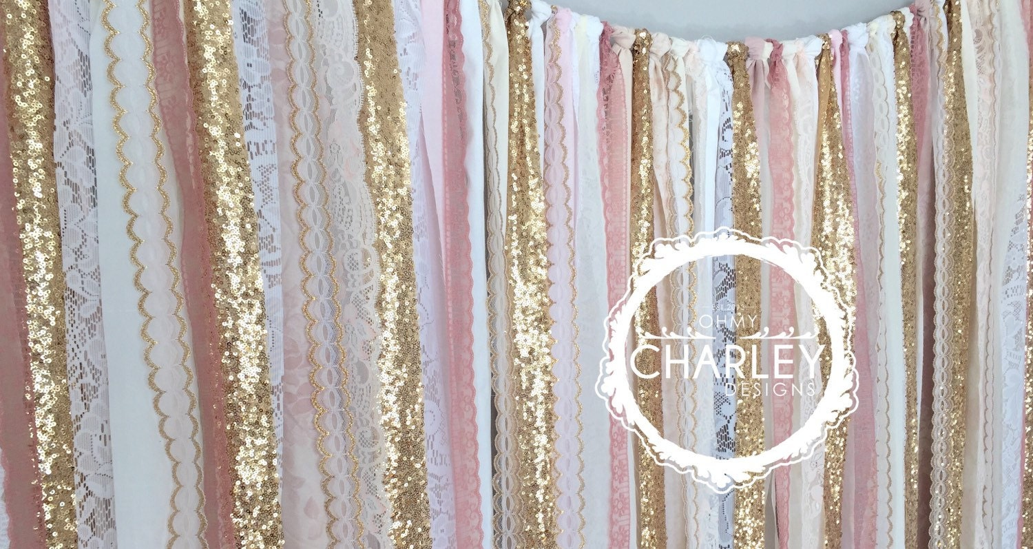 silver and gold shower curtain.  zoom Pink Gold Sparkle Sequin Fabric Backdrop with Lace Wedding