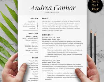 2 Page Resume, Resume Cover Letter, Resume Template, CV Resume Template, CV Template, Best Resume Template, Resume Format Instant Download