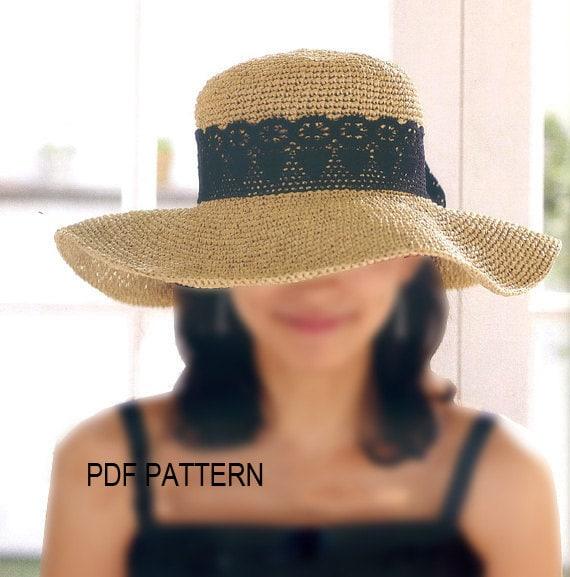 Pdf Download Crochet Floppy Hat Pattern Wide Big Brim Sun