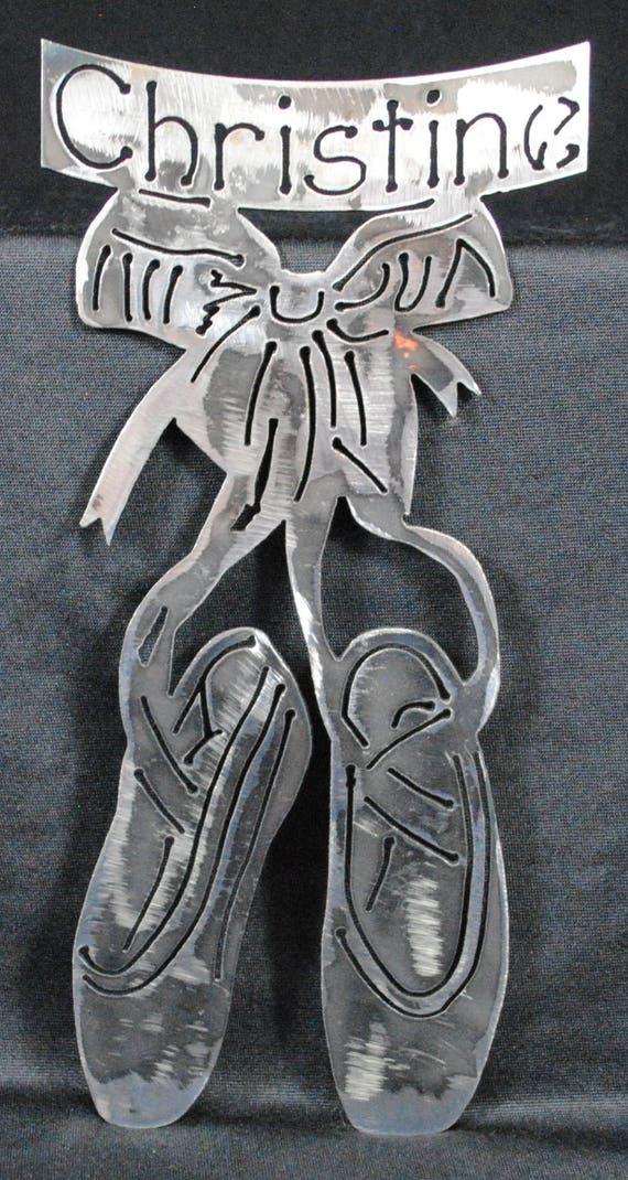 Personalized Ballet Slippers, Ballerina Slippers, Ballerina, Girls Room Decor, Ladys Room Decor, Gift for Ballet Dancer, Gift for Ballerina