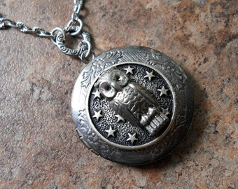 LAST ONE Night Owl Locket Exclusive DesignOnly by Enchanted Lockets