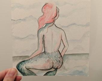 Mermaid Watercolor Painting