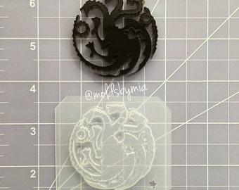 ON SALE House Targaryen ~ Games of Thrones inspired flexible plastic resin mold