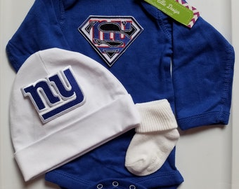 New York giants baby outfit,ny giants baby,ny giants newborn,newborn ny giants,ny giants baby boy shower gift,baby ny giants