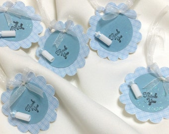 Blue Thank You Tags - Boy Shower Thank You Tags - Baby Boy Shower Thank You Tags - Thank You Favor Tags - Favor Tags  ***FREE SHIPPING***