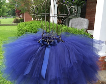 """Solid Navy Adult Tutu for waist up to 34 1/2"""" great for Halloween, Birthdays, Dance and Bachelorette parties"""