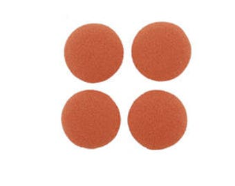 """Sale Clearace  40 Pieces 1/2"""" Round Fabric Covered Flatback in Tangerine"""