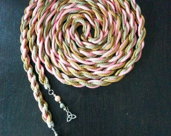 CUSTOM Handwound handfasting cord - you choose the colours!