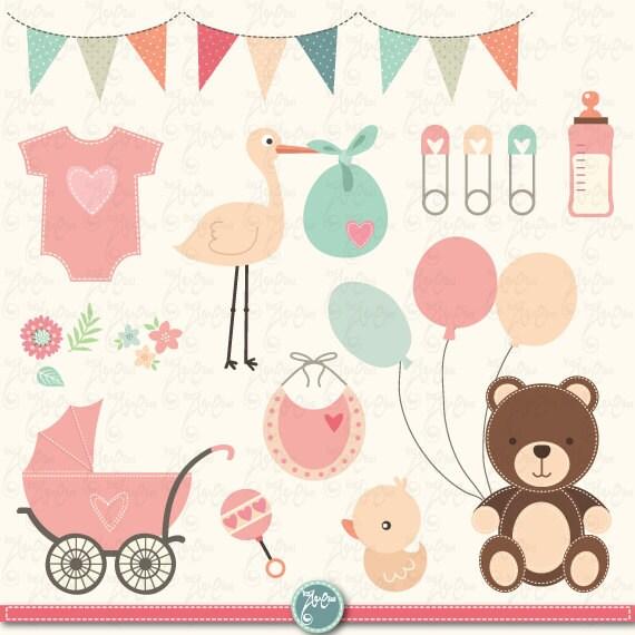 baby shower clipart baby shower clip art birth announcement rh etsystudio com Baby Girl Baby Shower Clip Art clipart for baby boy shower invitations