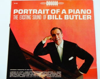 Bill Butler - Portrait of a Piano - Romantic Music - Theme from Rachmaninoff's Piano Concerto #2 - Epic Demo Copy - Vintage Classical Vinyl