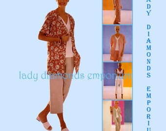 McCalls 2755 Womens Jacket Over-shirt A-line Dress Tank Top Pants Shorts Capris  8 10 12 Mix & Match Summer Wardrobe Pattern Uncut FF #141